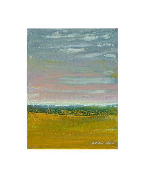 """Trademark Global Masters Fine Art Golden Beach Yellow Canvas Art - 15"""" x 20"""""""