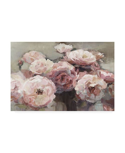 "Trademark Global Marilyn Hageman Wild Roses Neutral Canvas Art - 15"" x 20"""