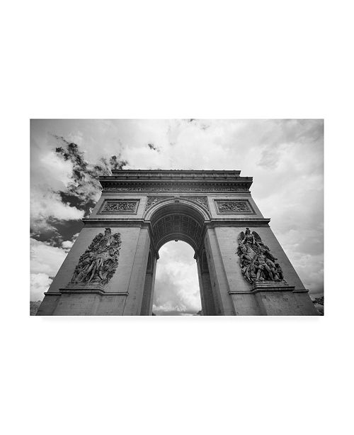 "Trademark Global Monte Nagler Arc De Triomphe Paris France Monotint Canvas Art - 15"" x 20"""