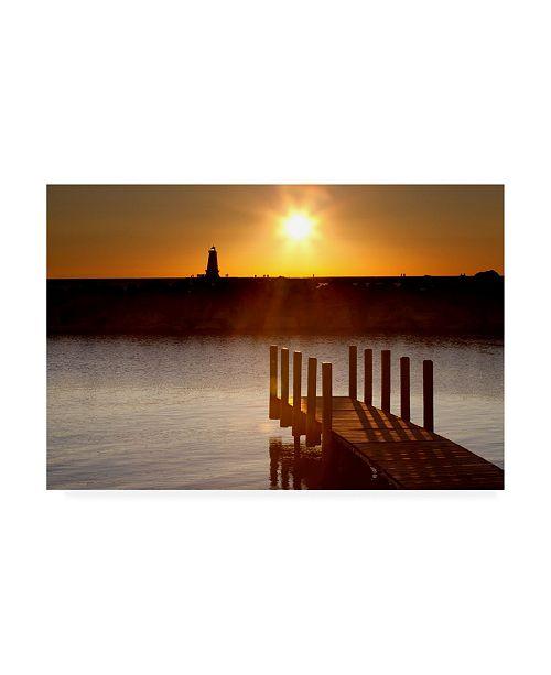 "Trademark Global Monte Nagler Ludington Sunset Ludington Michigan Color Canvas Art - 15"" x 20"""