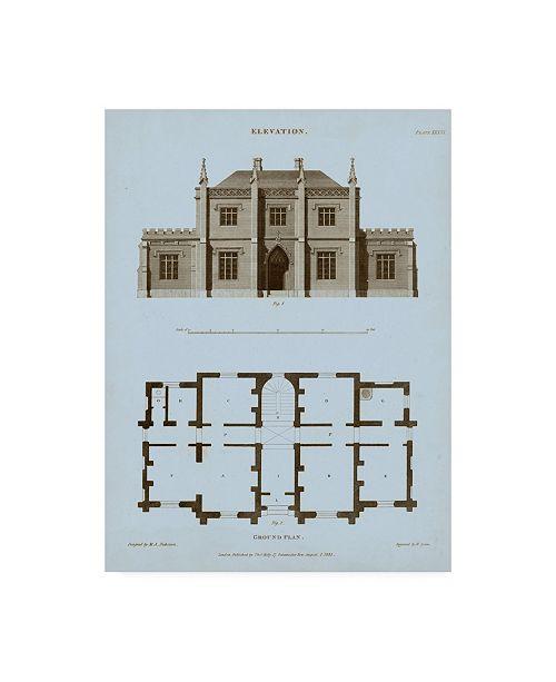 "Trademark Global Thomas Kelly Chambray House and Plan V Canvas Art - 15"" x 20"""