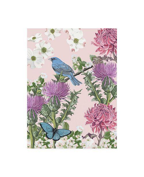 """Trademark Global Naomi Mccavitt Bird Garden IV Canvas Art - 37"""" x 49"""""""
