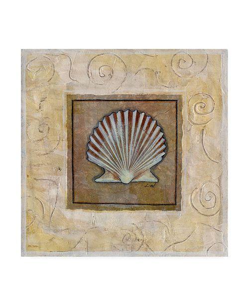 "Trademark Global Pablo Esteban Starfish on Blue Gray Canvas Art - 15.5"" x 21"""
