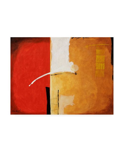 """Trademark Global Pablo Esteban Tones of Red and White 1 Canvas Art - 15.5"""" x 21"""""""