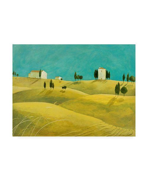 "Trademark Global Pablo Esteban Tuscan Villas Paint 1 Canvas Art - 27"" x 33.5"""