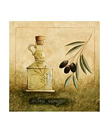 "Pablo Esteban Olive Oil Branches 1 Canvas Art - 15.5"" x 21"""