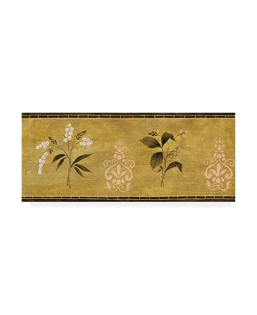 "Trademark Global Pablo Esteban Flowers Over Beige Canvas Art - 19.5"" x 26"""