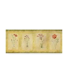 """Pablo Esteban Pink Four Panel Canvas Art - 19.5"""" x 26"""""""