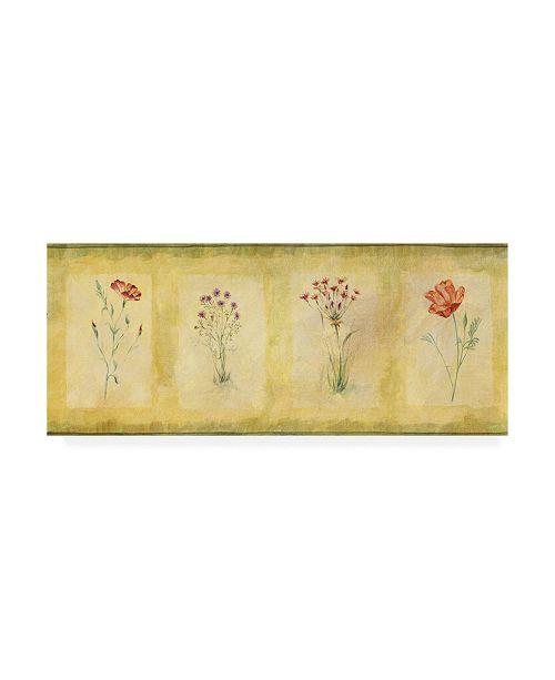 "Trademark Global Pablo Esteban Pink Four Panel Canvas Art - 19.5"" x 26"""