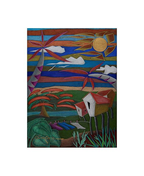 "Trademark Global Oscar Ortiz Remembranzas Canvas Art - 19.5"" x 26"""