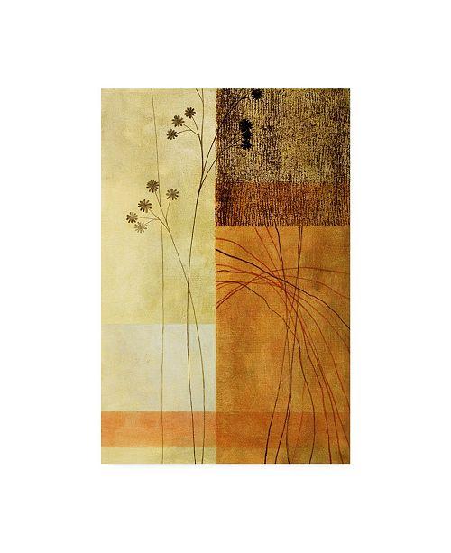 "Trademark Global Pablo Esteban Brown, Orange Block Right Canvas Art - 19.5"" x 26"""