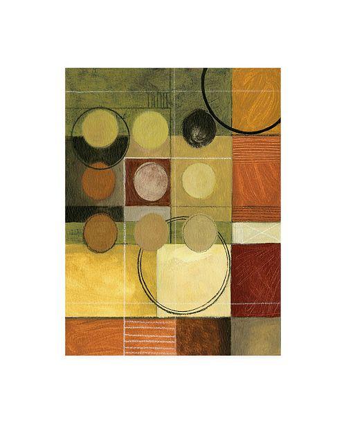 "Trademark Global Pablo Esteban Nine Circles, One Black Canvas Art - 36.5"" x 48"""