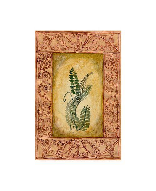 "Trademark Global Pablo Esteban Fern Leaf Framed 5 Canvas Art - 19.5"" x 26"""