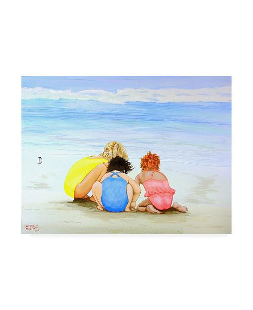 "Trademark Global Patrick Sullivan 3 Lil Maids Canvas Art - 36.5"" x 48"""