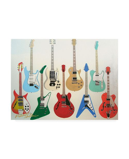 "Trademark Global Patrick Sullivan Guitars Electric Canvas Art - 36.5"" x 48"""