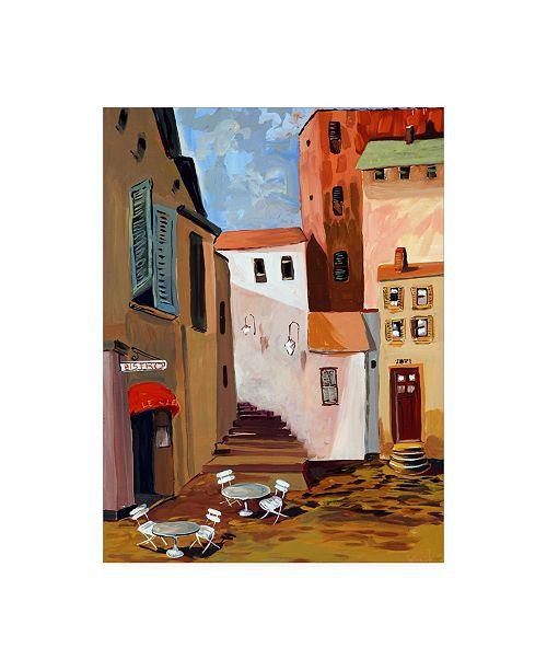 """Trademark Global Patricia A. Reed Bistro Courtyard Canvas Art - 36.5"""" x 48"""""""