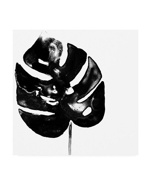 "Trademark Global June Erica Vess Monochrome Tropic I Canvas Art - 19.5"" x 26"""