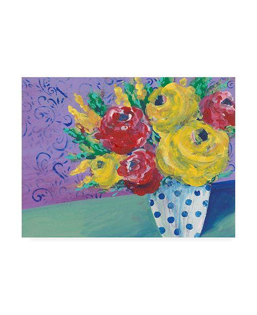 "Trademark Global Regina Moore Fearless Floral I Canvas Art - 19.5"" x 26"""
