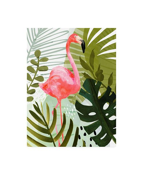 "Trademark Global Victoria Borges Flamingo Forest II Canvas Art - 15.5"" x 21"""