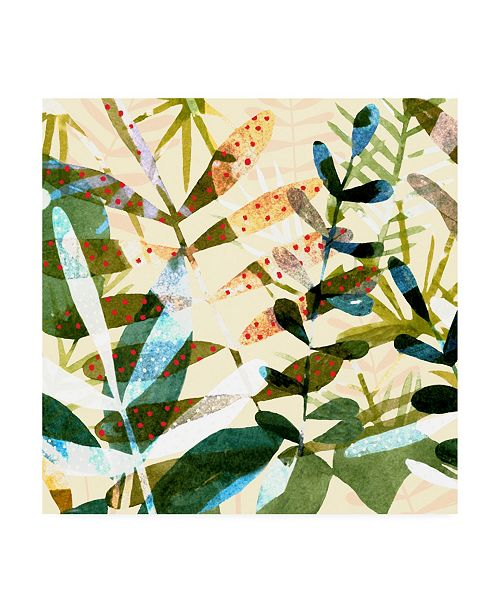 "Trademark Global Emma Scarvey Technicolor Jungle I Canvas Art - 19.5"" x 26"""