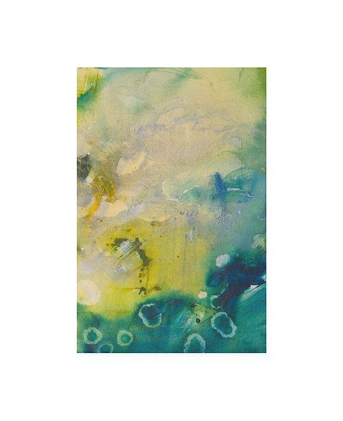 "Trademark Global Jennifer Gardner Turquoise Flow III Canvas Art - 15.5"" x 21"""