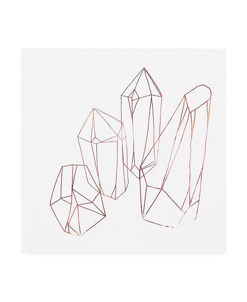 """Trademark Global June Erica Vess Contour Crystals III Canvas Art - 19.5"""" x 26"""""""