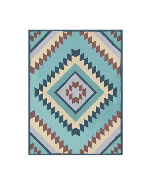 "Trademark Global Melissa Wang Tribal Structure I Canvas Art - 15.5"" x 21"""