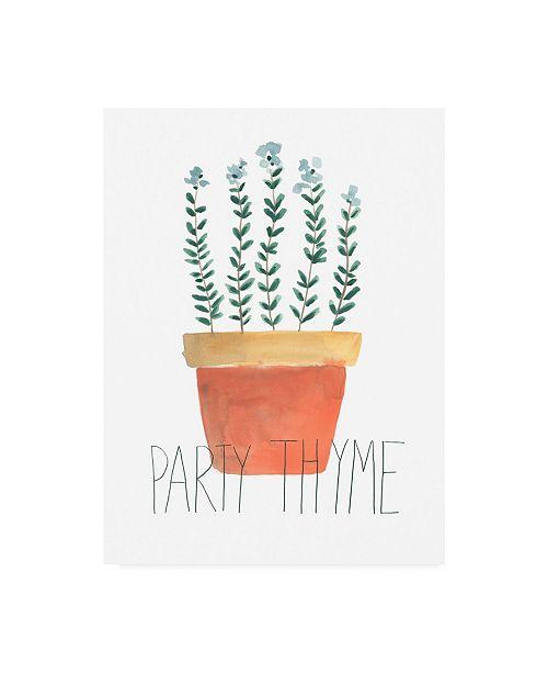 "Trademark Global June Erica Vess Punny Plant IV Canvas Art - 15.5"" x 21"""
