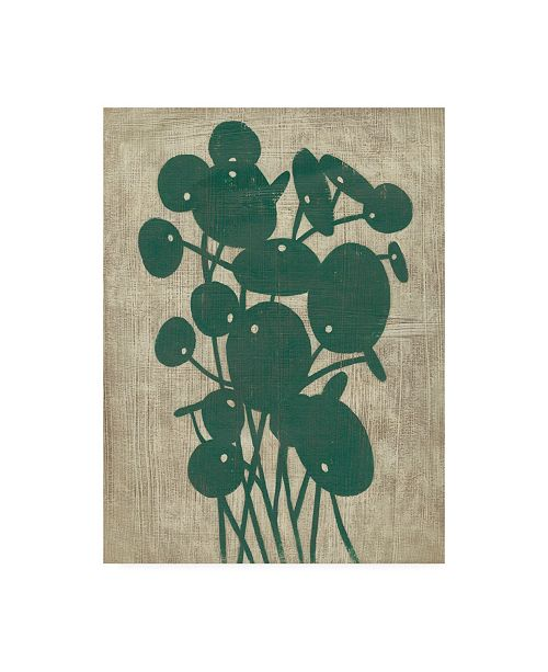 "Trademark Global Chariklia Zarris Vintage Greenery IV Canvas Art - 15.5"" x 21"""