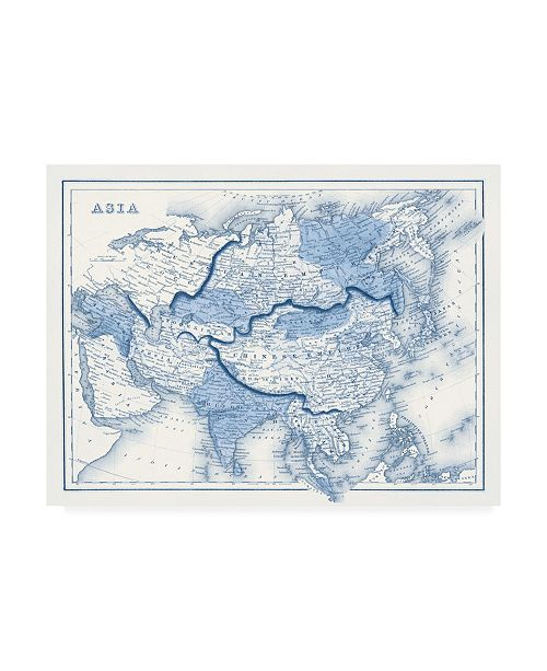 """Trademark Global Vision Studio Asia in Shades of Blue Canvas Art - 27"""" x 33.5"""""""