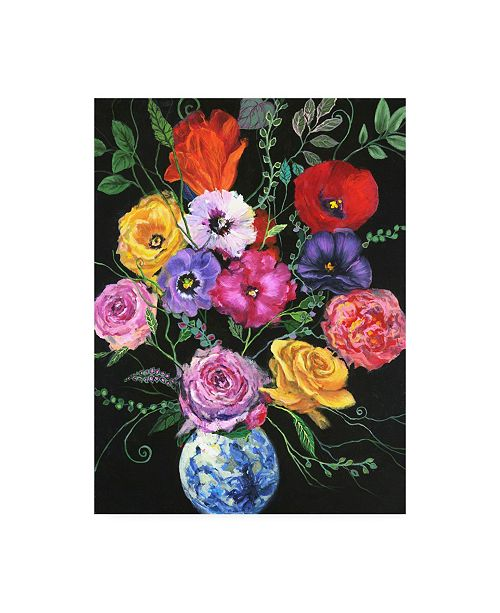"Trademark Global Julie Joy Floral Canvas Art - 15.5"" x 21"""