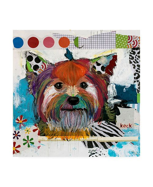 """Trademark Global Michel Keck Yorkshire Terrier Abstract Canvas Art - 19.5"""" x 26"""""""