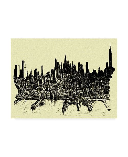 "Trademark Global Peter Potter New York City Abstract Canvas Art - 27"" x 33.5"""