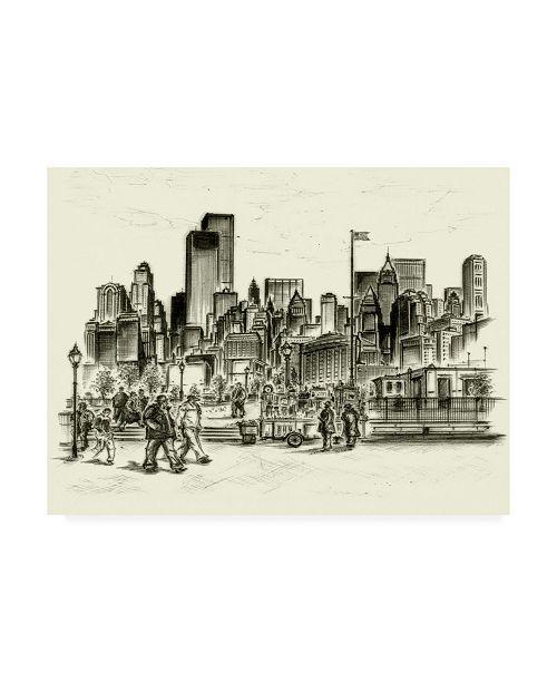 "Trademark Global Peter Potter New York Battery Park Canvas Art - 27"" x 33.5"""