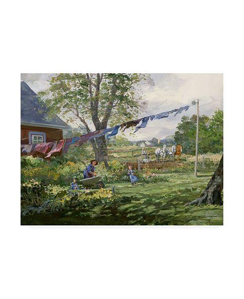 "Trademark Global Peter Snyder Helping Grandma Canvas Art - 27"" x 33.5"""