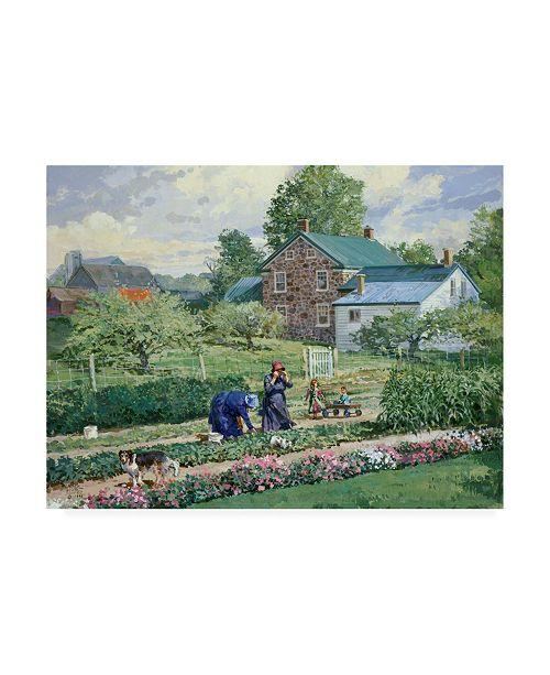 """Trademark Global Peter Snyder Nancy in the Garden Canvas Art - 27"""" x 33.5"""""""