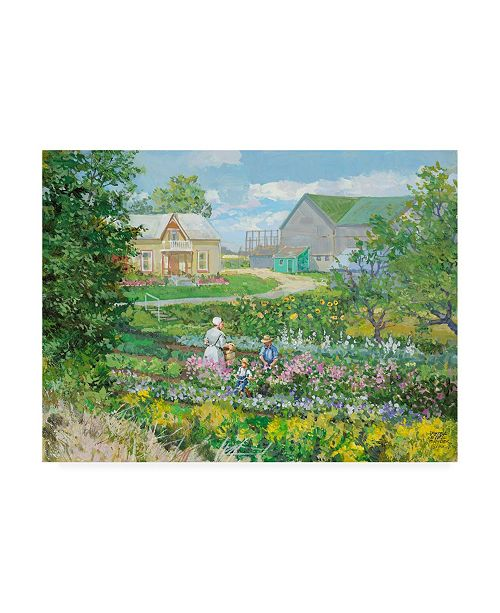 "Trademark Global Peter Snyder St. Jacobs Garden Canvas Art - 27"" x 33.5"""