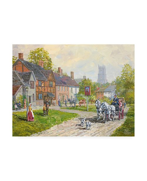 "Trademark Global Peter Snyder The Passing Carriage Canvas Art - 27"" x 33.5"""