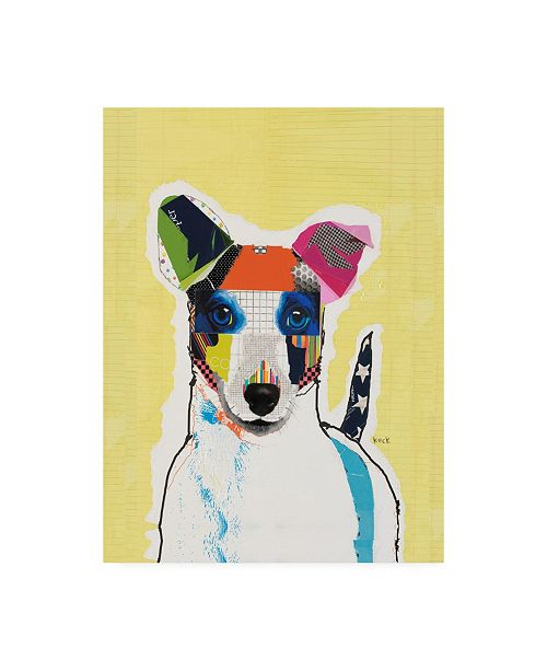"Trademark Global Michel Keck Jack Russell Abstract Canvas Art - 15.5"" x 21"""