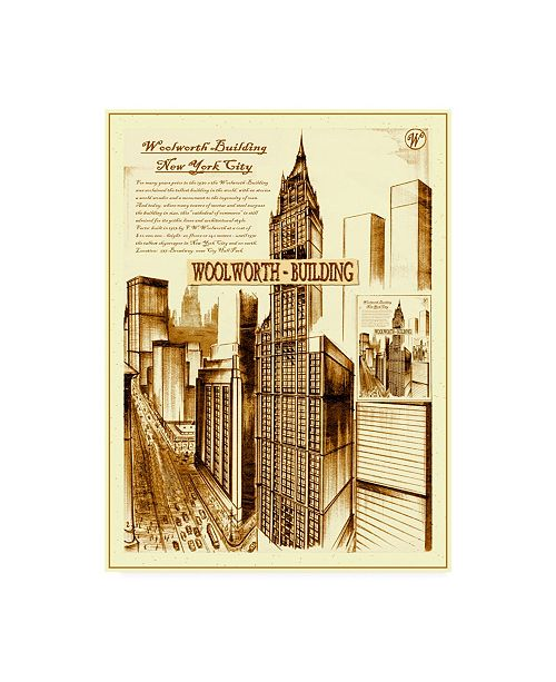 "Trademark Global Peter Potter New York Abstract Canvas Art - 27"" x 33.5"""
