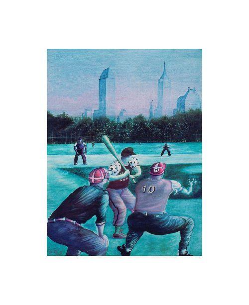 "Trademark Global Peter Potter Baseball Players Canvas Art - 19.5"" x 26"""