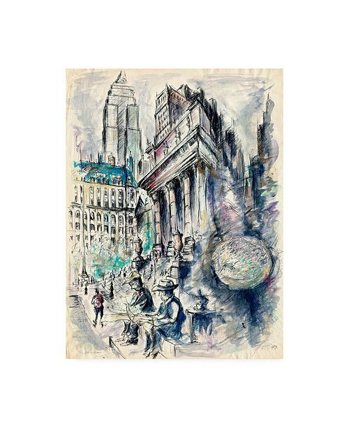 "Trademark Global Peter Potter New York Illustration Canvas Art - 19.5"" x 26"""