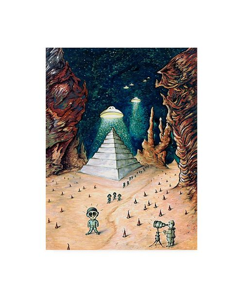"Trademark Global Peter Potter Alien Invasion Canvas Art - 19.5"" x 26"""