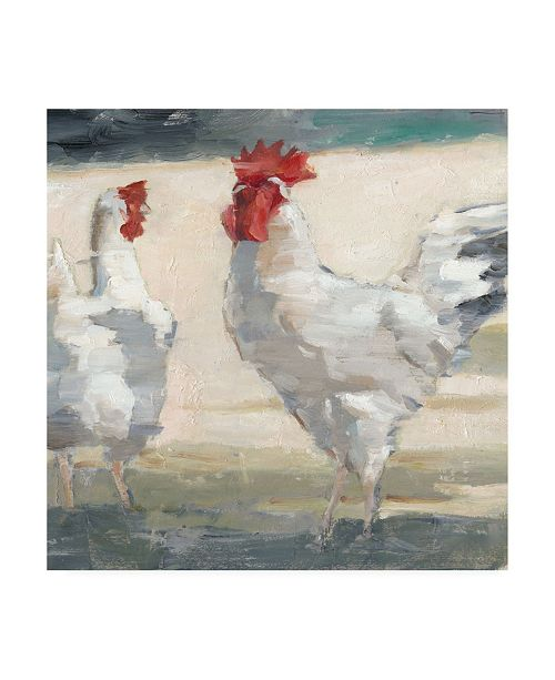 "Trademark Global Ethan Harper Chicken Yard II Canvas Art - 19.5"" x 26"""