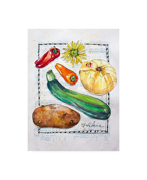 "Trademark Global Elizabeth St. Hilaire Kitchen Veggies II Canvas Art - 27"" x 33.5"""