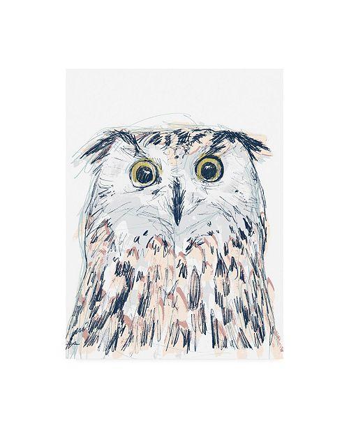 "Trademark Global June Erica Vess Funky Owl Portrait II Canvas Art - 15.5"" x 21"""