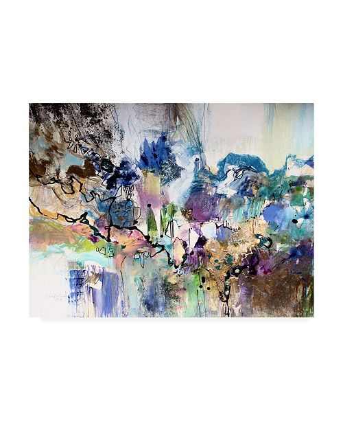 "Trademark Global Jennifer Gardner Rainbow Blue I Canvas Art - 15.5"" x 21"""