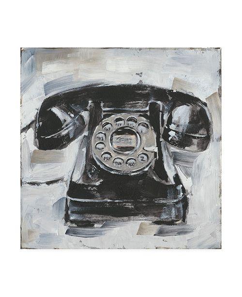 "Trademark Global Ethan Harper Retro Phone I Canvas Art - 15.5"" x 21"""