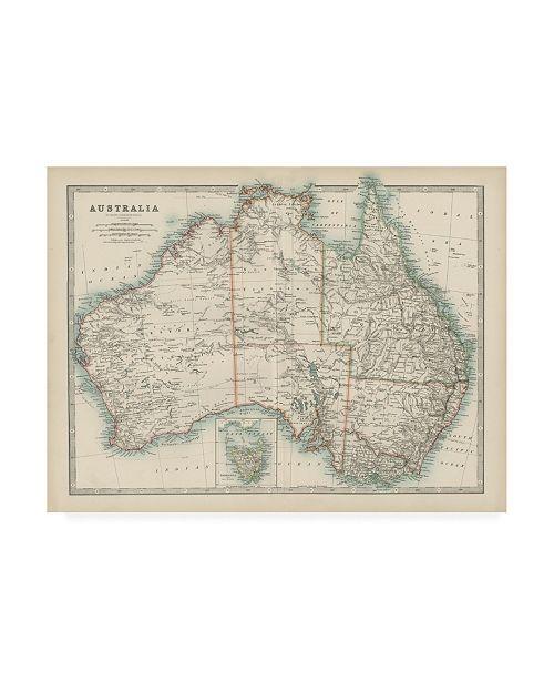 """Trademark Global Johnston Johnstons Map of Australia Canvas Art - 15.5"""" x 21"""""""