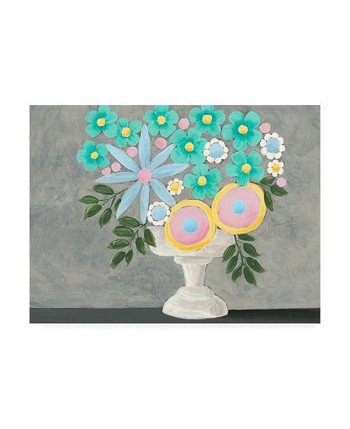 "Trademark Global Regina Moore Nouveau Flowers I Canvas Art - 15.5"" x 21"""